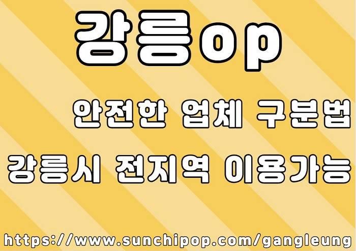 강릉op 업체 구분법